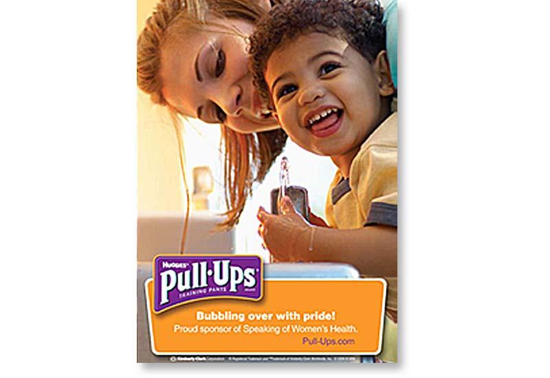 Pull-Ups training pants advertising